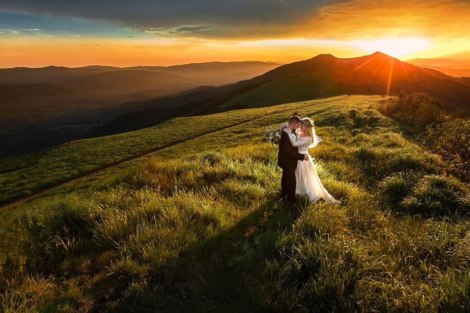zdjęcia ślubne na Połoninie Wetlińskiej