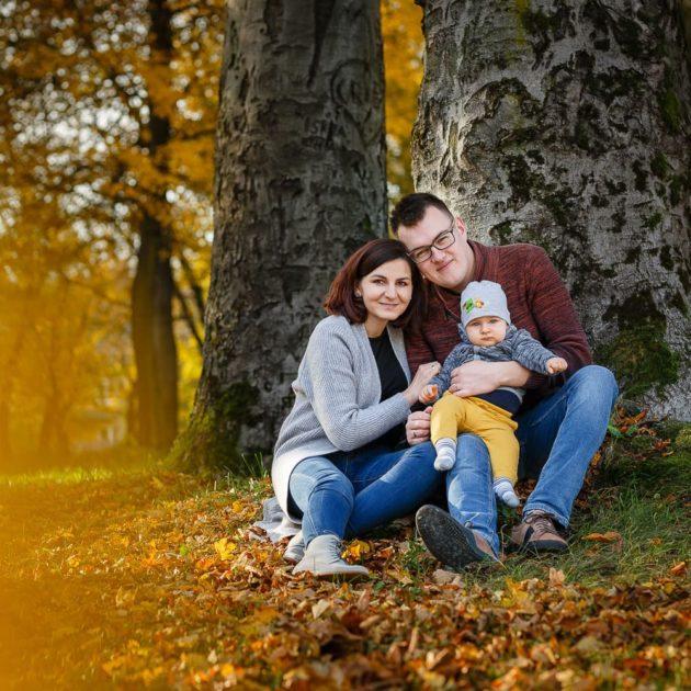 rodzinna sesja jesienią